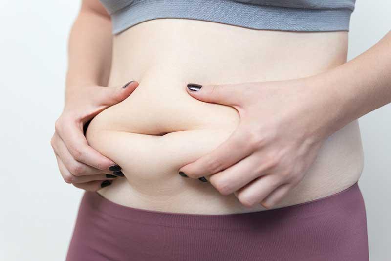 Belly fat love handles