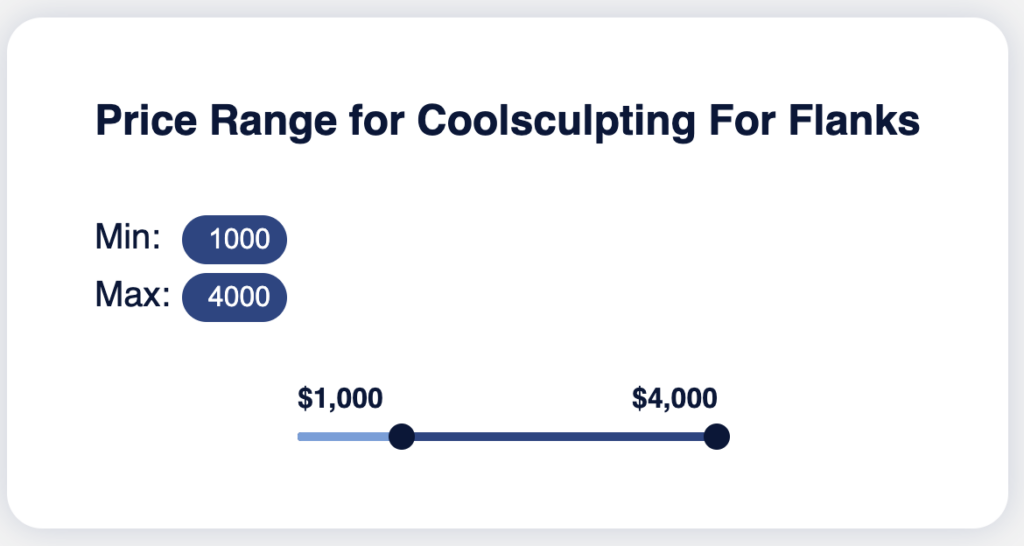 Price Range for Coolsculpting for Flanks
